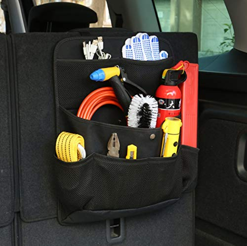 Y&Jack Car Rear Seat Organizer - Car Rear Seat Storage Bag Car Seat Back Hanging Bag Trunk Storage Can Store Some Tools: Amazon.co.uk: Sports & Outdoors