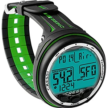 Image of Activity & Fitness Trackers Cressi Scuba Diving Computer - 3 Dive Programs: Air•Nitrox•Gauge - Dual-mixture Gasses - Backlit Light, Logbook, Ascent Alarms | Giotto: made in Italy