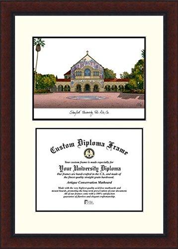 Stanford University Campus Image Diploma Frame