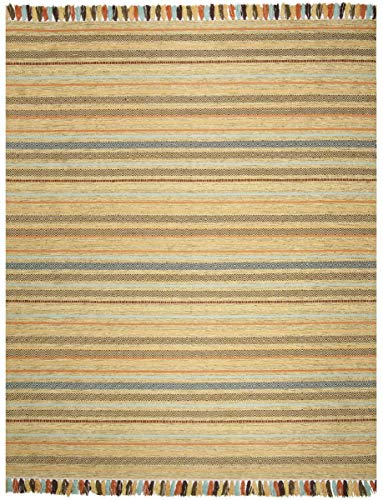 Safavieh Montauk Collection MTK901G Green and Multi Area Rug (8' x 10')