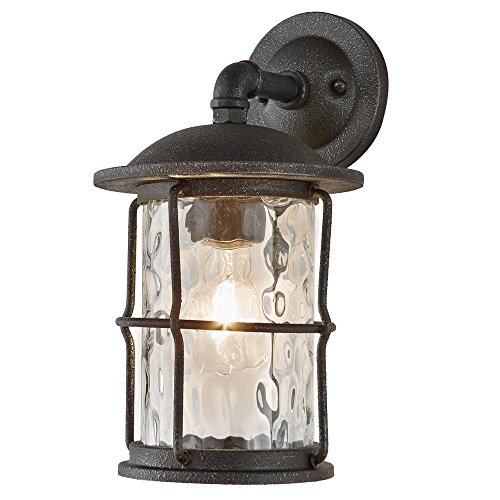 - Home Decorators Collection 7956HDCGIDI 1-Light Gilded Iron Outdoor Wall Mount Lantern