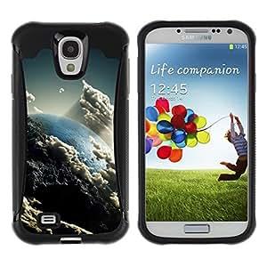 "Pulsar iFace Series Tpu silicona Carcasa Funda Case para Samsung Galaxy S4 IV I9500 , Nubes Cielo Arte Tierra Sun Ambiente"""