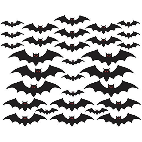 Amscan Halloween Cemetery Bat Cutouts Mega Value Pack- 30 Pack ()