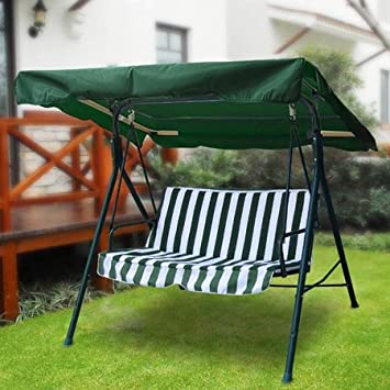 All Weather 77x43 Outdoor Replacement Swing Canopy Cover Top Porch Patio Seat Furniture Pool - Green & Amazon.com : All Weather 77x43 Outdoor Replacement Swing Canopy ...