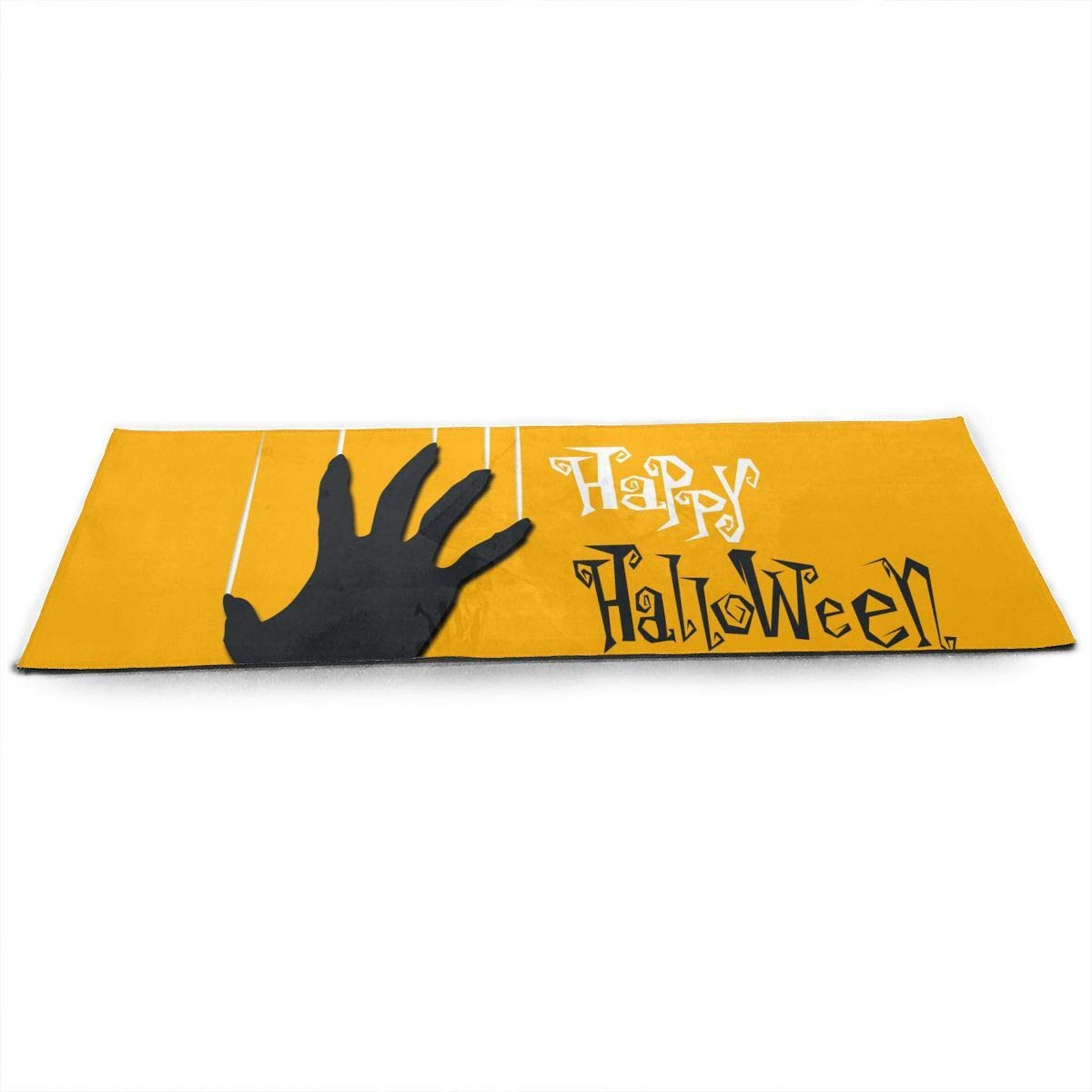 Yellow Happy Halloween Zombie Hand ECO Aqua Power Kinematic Iyengar Kundini Hot Pilates Gymnastics Hatha Yoga Mat Exercise Mat