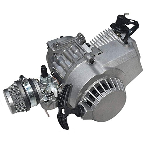 PinShang 49cc 2 Stroke Pull Start Engine Motor Mini Pocket Pit Quad Dirt Bike ATV 4 Wheel Accessory