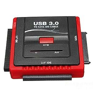 SUT convertidor adaptador USB 3.0a SATA/IDE Para CD-ROM DVD-ROM DVD-RW