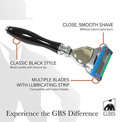 5 blade razor black