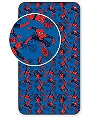 Jerry Fabrics Kids hoeslaken van 100% kwaliteit katoen 90 x 200cm Spiderman