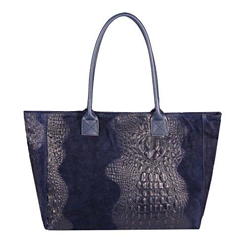 pour ITALYSHOP24 bleu femme xl Bleu Fonc Bleu COM jeans Cabas wXrEqXf