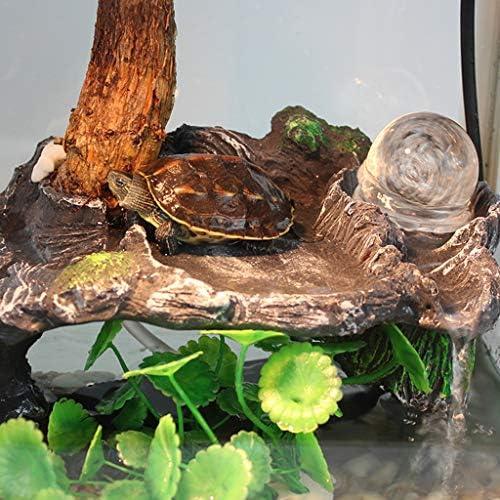 Xu-pet watertank met grote schildpad, draagbaar glas aqua voeders terrarium, familie met terras kikker goudvis