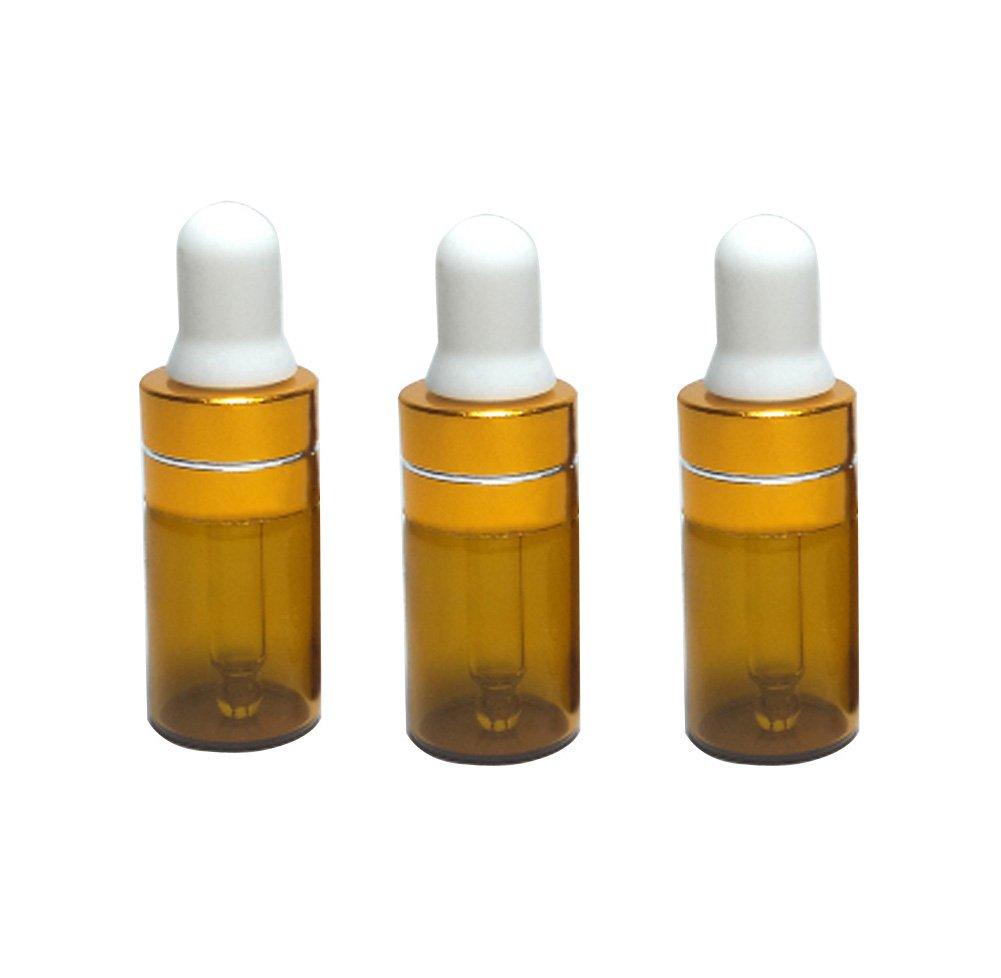 12pcs 1 ml/2ml/3ml aceite esencial botellas de cristal ámbar maquillaje cosméticos contenedor de muestras botella Pot con ojos cristal cuentagotas botella ...