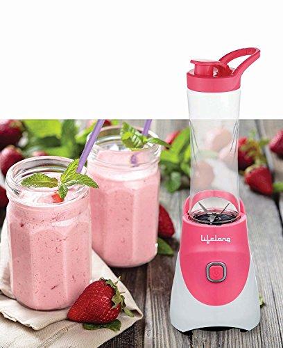 Lifelong Nutri Go Blender 300-Watt Blender ,1-Piece, Pink