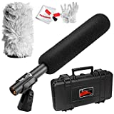 Aputure Deity Super-Cardioid Condenser Shotgun Video Microphone with Windscreen, Windshield, Waterproof Safe Case and Pergear Cleaning Kit for Canon Nikon Sony Digital Camera DV Camcorder