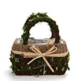 Byher 12167 Preserved Moss Flower Basket for Girl Wedding (Medium)