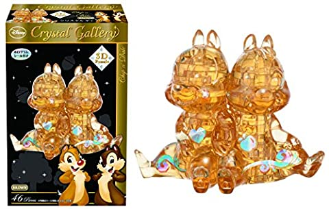 Hanayama Disney Crystal Gallery Brown Chip 'n' Dale 3D Puzzle (46 Piece)