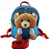 Homeslf Toddler Backpack with Reins, Walking Safety Harness Reins Toddler Child Kid Strap Backpack Bag (Brown Bear)
