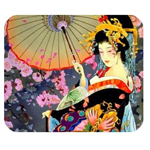 (LiFei Business Japanese Art Geisha Girl Psychedelic Background Gaming mouse pad Mousepad Home/office Dust and Stain Resistant Hot Sale Fast Shipping)