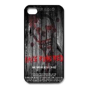 iphone4 4s Phone Cases Black Bloody The Punisher Skull Logo CBE026108