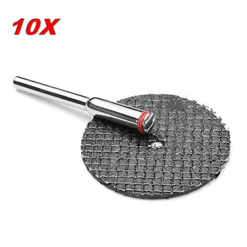 CynKen 10pcs 32mm Reinforced Flat Cut-off Wheel Resin Cutting Discs Chop Saw Blade