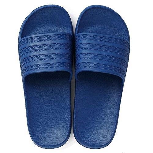 DogHaccd Zapatillas,Luz interior inicio inicio pareja masculina de arrastre señoras verano baño baño desodorante anti-deslizamiento zapatillas Azul oscuro