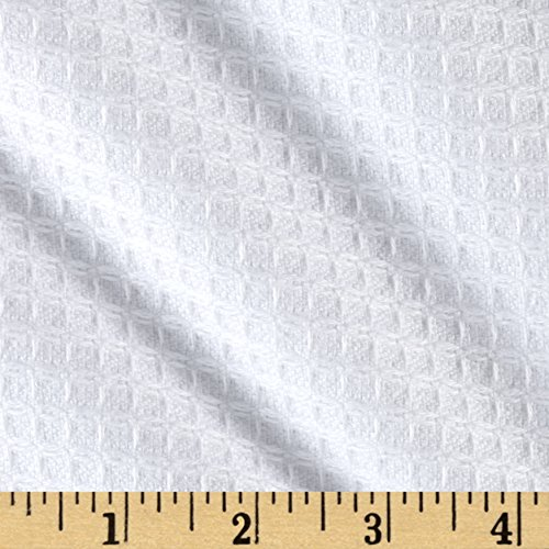 Waffle Chenille Terry Cloth Cuddle White Fabric By The (Chenille Waffle)