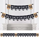30th Milestone Birthday - Dashingly Aged to Perfection - Birthday Party Bunting Banner - Happy Birthday