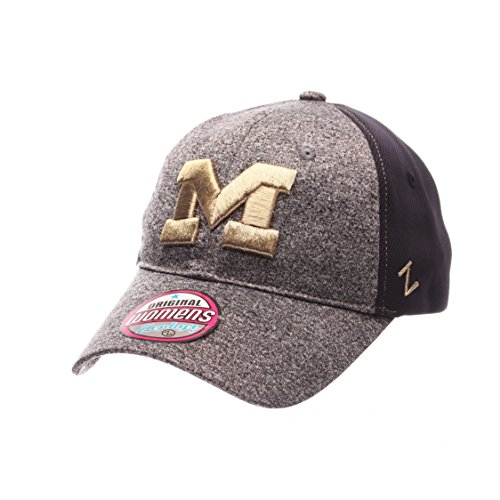 Zephyr NCAA Michigan Wolverines Women's Harmony Performance Hat, Grey/Navy, Adjustable