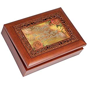 cottage garden music box daughter plays light up my life with ornate woodgrain. Black Bedroom Furniture Sets. Home Design Ideas