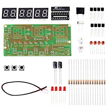 amazon com whdts c51 6 bits diy digital electronic clock kitElectronic Production Suite 51 Diy Parts Kit Clock Circuit Training #2