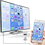Lightning to HDMI Adapter Lightning Digital AV to HDMI 1080P Cable Adaptor Connector for iPhone 7 7 Plus 6s 6s Plus 6 6 Plus 5 5c 5s SE, iPad Air/Mini/Pro, iPod Touch 5th/6th plug and play (Silver)