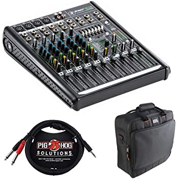 Mackie ProFX8v2 8-Channel Sound Reinforcement Mixer with Padded Nylon Mixer/Equipment Bag and Pro Stereo Breakout Cable - 10