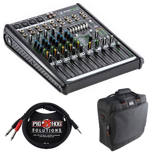 - Mackie ProFX8v2 8-Channel Sound Reinforcement Mixer with Padded Nylon Mixer/Equipment Bag and Pro Stereo Breakout Cable - 10'