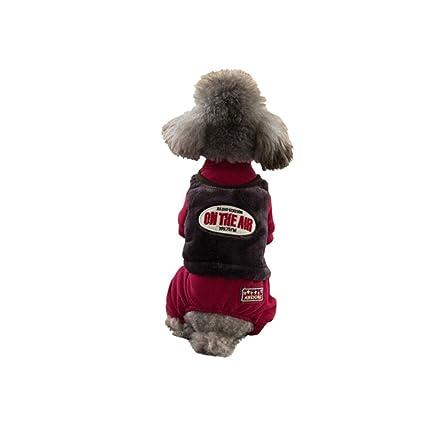 e992f1bfc9efd Amazon.com : Haoweidaoshanghang Dog Clothes, Teddy, Bichon, Small ...