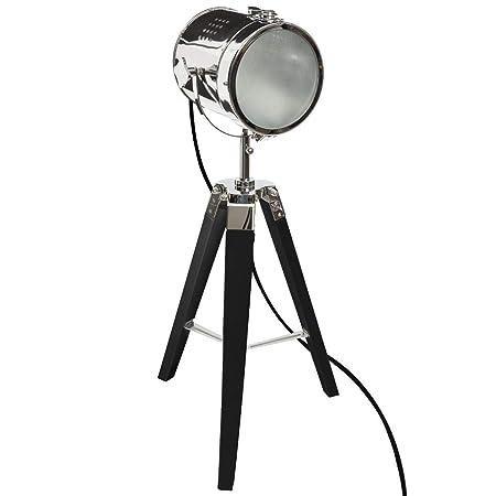 Atmosphera - Lámpara Proyector (Metal y Madera Cepillado Negro ...