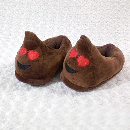 Ama (tm) Warme Zachte Pluche Creatieve Cartoon Slippers Winter Warme Indoor Schoenen Bruin 1