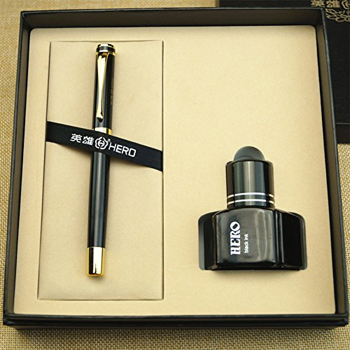 Exquisite Fountain Pen Set with 1 Bottle of Ink School Office Supplies Gift Packaged by Yiding