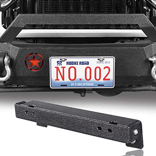 Front License Plate Mount Holder for 1955-2019 Jeep Wrangler YJ TJ JK JL