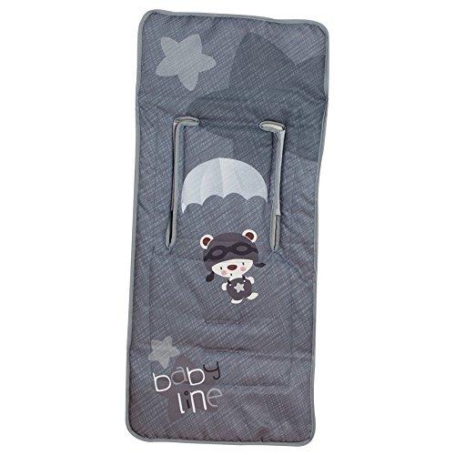 color gris Colchoneta ligera para silla de paseo Babyline Paracaidista