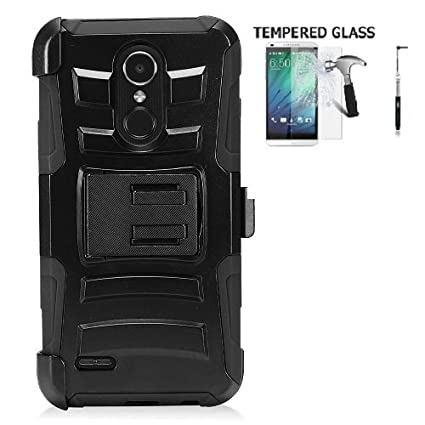 LG Tribute Dynasty Protective Case, Phone Case for LG Zone 4 / LG Aristo 2 / LG Aristo 2 Plus/LG Fortune 2 / LG Risio 3, Dual Layer Holster Belt Clip ...