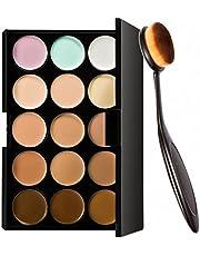 ArRord Pro 15 Colors Face Contour Cream Makeup Concealer Palette With Foundation Powder Brush Kit Set