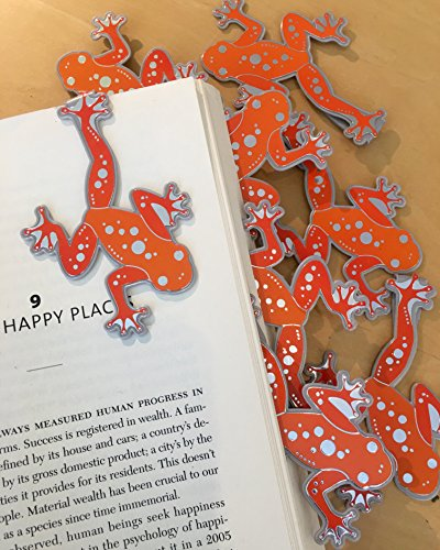 Frog Page Marks Clip over the page (Set 10) Bulk Bookmarks for Kids girl's boy's teens. Perfect for Gifts, Student Incentives, Reading Incentives, Awards!