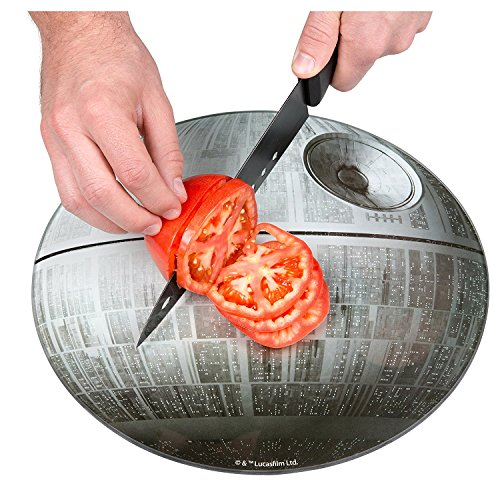 (Star Wars Death Star Cutting Board - Non Slip Feet - Made of Toughened)