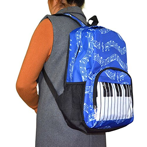 Punk Oxford Mochila con diseño de notas musicales, para la escuela, Niños y Niñas, Elegante, Arte (4 Colores), Keyboard blue: Amazon.es: Instrumentos ...