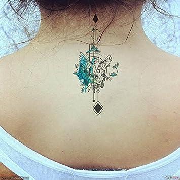 Oottati Sortiment Nacken Temporare Tattoo Vogel Schwalben Set Mit 2