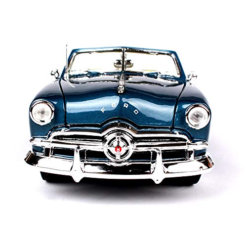 LUCKYCAR Model Cars 1949 Ford Convertible Simulated Alloy Car Model,Model Cars 1:18 diecast Finished Product Model,The Trunk/Engine Compartment can be Opened,Activity gate, 27cm ()