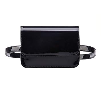 3235b9a1474 Buddy Women Patent Leather Waist Bag Solid Color Fanny Pack Vintage  Removable Belt Bag Black