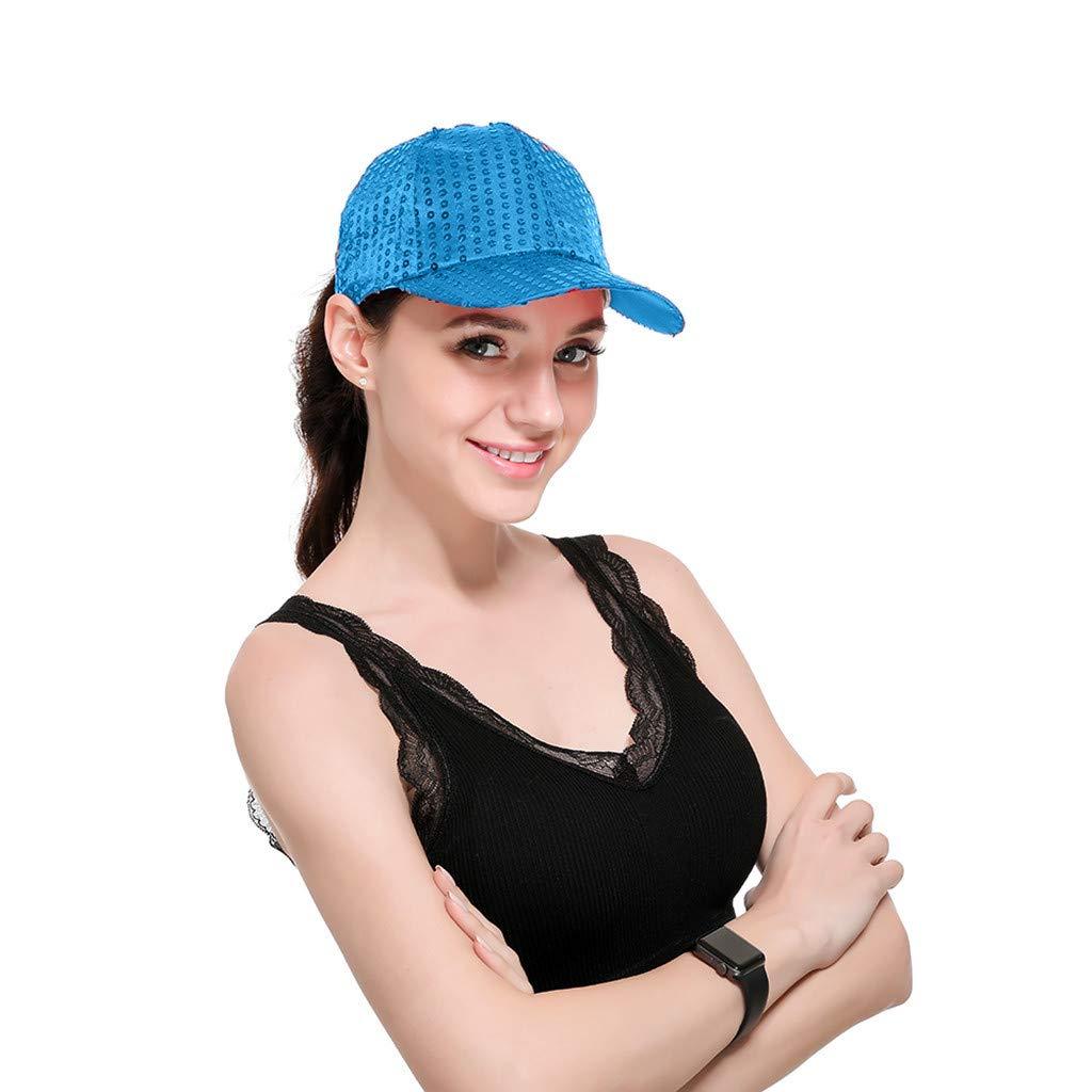 RISTHY Gorras de Mujer Beisbol Lentejuelas para Bailar, Sombrero ...