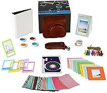 Fujifilm Instax Mini 9 or Mini 8 Instant Camera Accessories Bundle. 11 Piece Gift Box Fuji Accessories Kit Includes: Instax Mini Case, 2 Photo Albums, Filters, Selfie Lens, 60 Stickers & More