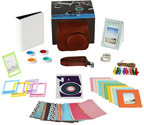 Fujifilm Instax Mini 9 or Mini 8 Instant Camera Accessories Bundle. 11 Piece Gift Box Fuji Accessories Kit Includes: Instax Mini Case, 2 Photo Albums, Filters, Selfie Lens, 60 Stickers & More (Lcd Keychain Key Ring)